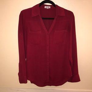 Portofino shirt-Cabernet wine red